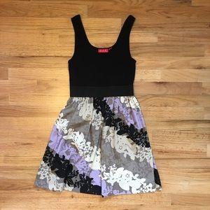 ELLE black and floral tank dress.